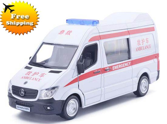 Red-White Kids 1:36 Ambulance Diecast Mercedes-Benz Sprinter