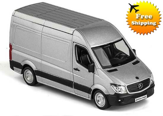 Silver kids 1 36 scale diecast mercedes benz sprinter toy for Diecast mercedes benz