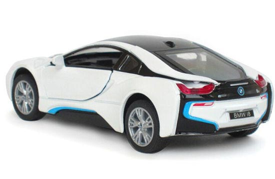 Silver Black White Blue 1 36 Kids Diecast Bmw I8 Toy Nb1t236