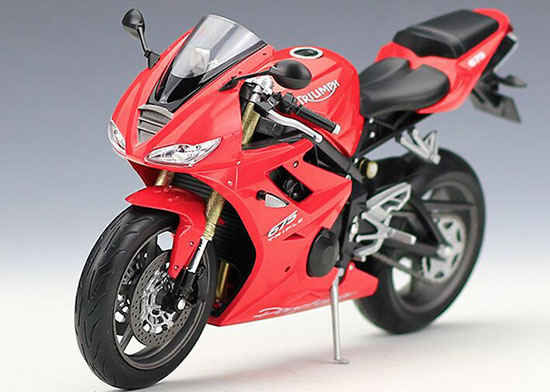 Welly Red / Blue 1:10 Scale Diecast Triumph Daytona 675 Model