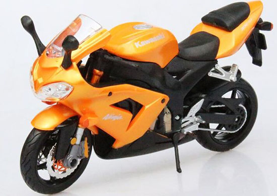 1:12 Scale Orange MaiSto Die-Cast 2008 Kawasaki Ninja ZX-10R