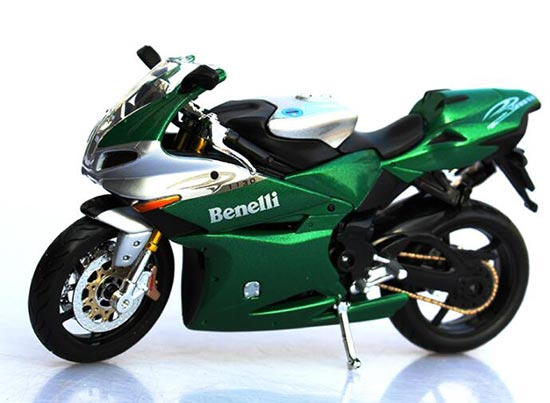 Green 1:12 Scale MaiSto Die-Cast Benelli Tornado Tre 1130 Model