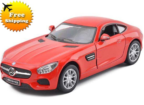 Yellow / Red / Blue / White 1:36 Diecast Mercedes-Benz GT AMG
