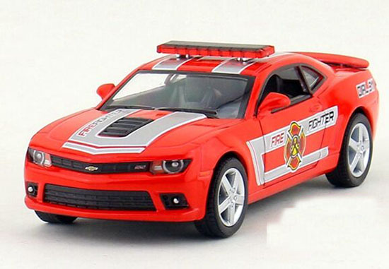 Red Kids 1:38 Scale Fire Dept Die-Cast Chevrolet Camaro Toy