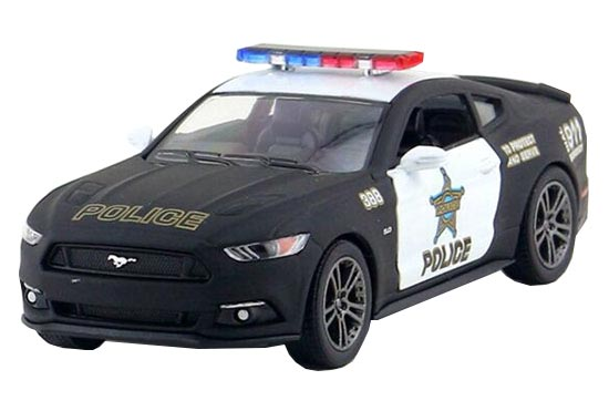 Black 1:38 Scale Kids Police Die-Cast Ford Mustang GT Toy