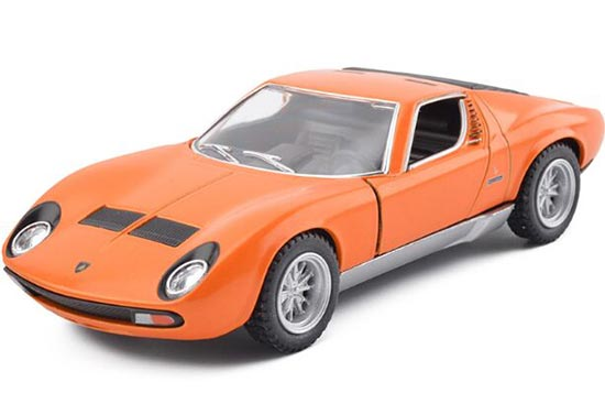 Orange / Green / Yellow /Red Kids Die-Cast Lamborghini Miura Toy