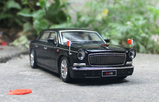 Black 1:32 Scale Kids Die-Cast FAW HongQi L5 Toy