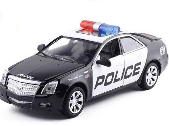 Black-White Kids Police 1:32 Scale Diecast Cadillac CTS Toy