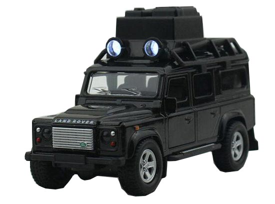 White / Black 1:32 Scale Kids Die-Cast Land Rover Defender Toy