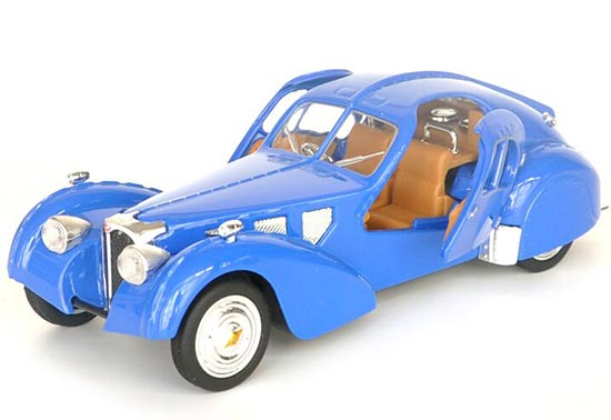 Blue / Wine Red / Golden 1:28 Kids Die-Cast Bugatti Vintage Car