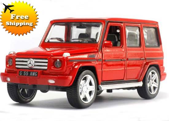 Red / Black / White 1:32 Kids Die-Cast Mercedes-Benz G55 AMG