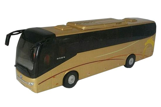 Silver / Golden 1:43 Scale Die-Cast Sunlong Coach Bus Model