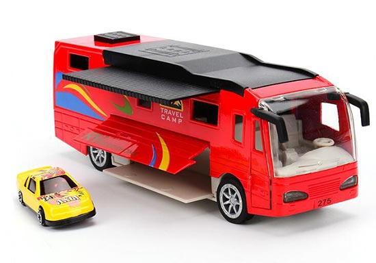 Kids 1:50 Red / Blue / White Die-Cast VOLKNER Motorhome Toy