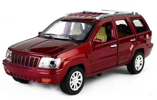 1:32 Kids Red / Blue / White /Green Diecast Jeep Grand Cherokee