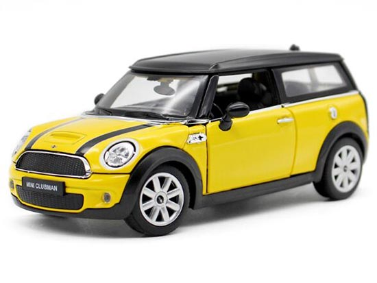 Yellow / Red 1:24 Scale Diecast Mini Cooper Clubman Model