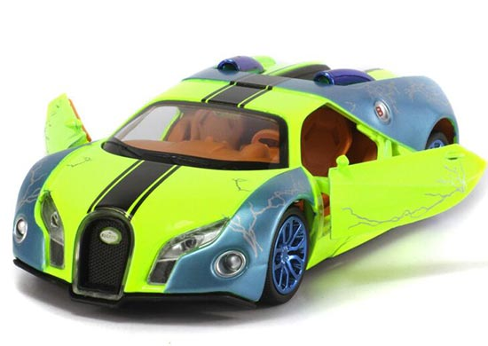 Green / Orange / Purple 1:32 Scale Kids Diecast Bugatti GT Toy