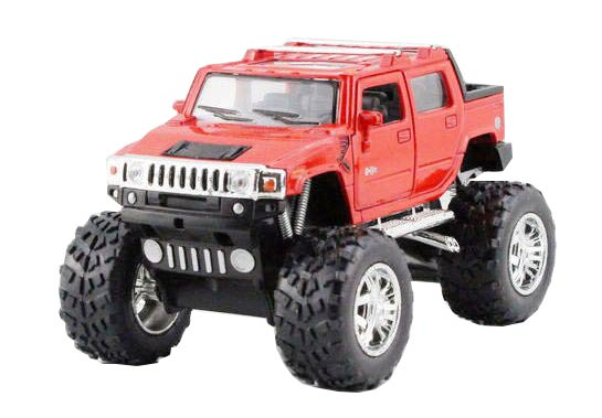 1:40 Kids Red / Yellow / Blue / Black Diecast Hummer H2 SUT