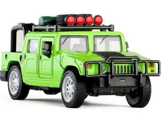 Red / Yellow / Green 1:32 Scale Kids Diecast Hummer H1 Toy