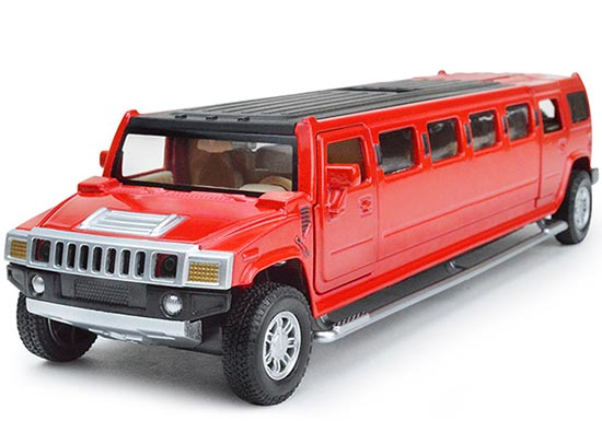 Long Size Kids Red / Yellow / Black Diecast Hummer H3 Toy