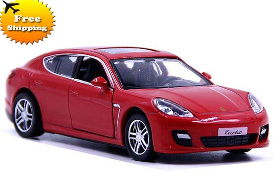 Kids 1:36 Black / Gray / Red / Silver Diecast Porsche Panamera