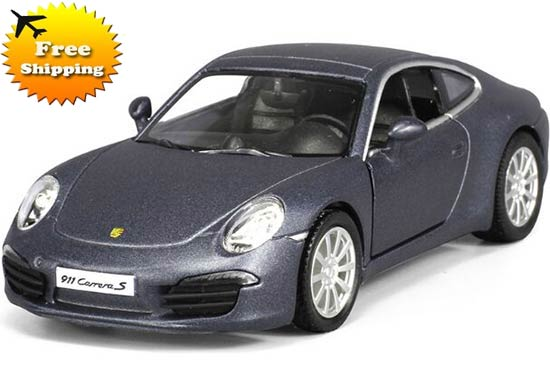 Black / Yellow /Red Kids 1:36 Diecast Porsche 911 Carrera S Toy