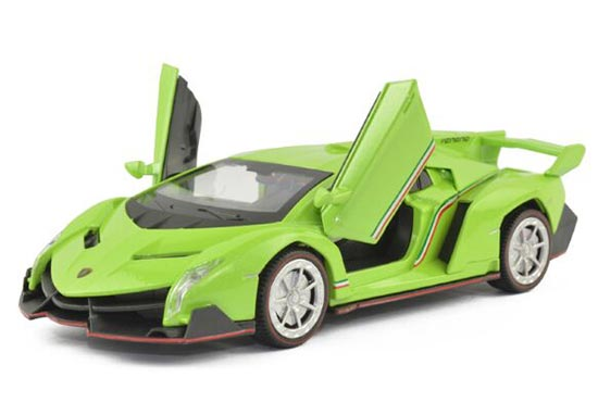 Kids 1:32 Yellow /Pink / Green / Gray Diecast Lamborghini Veneno
