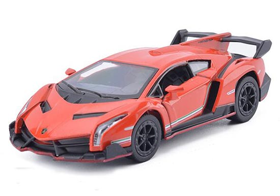 1:36 Black /Wine Red / Orange / Gray Diecast Lamborghini Veneno