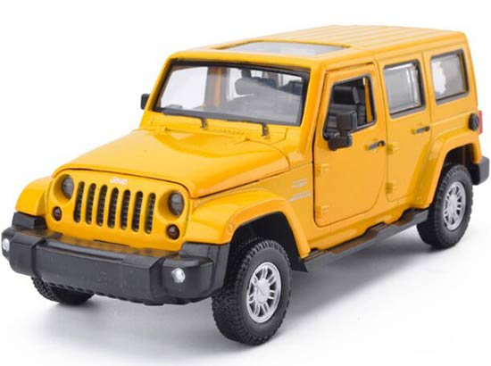 Kids Green / Red / Yellow 1:32 Diecast Jeep Wrangler Toy