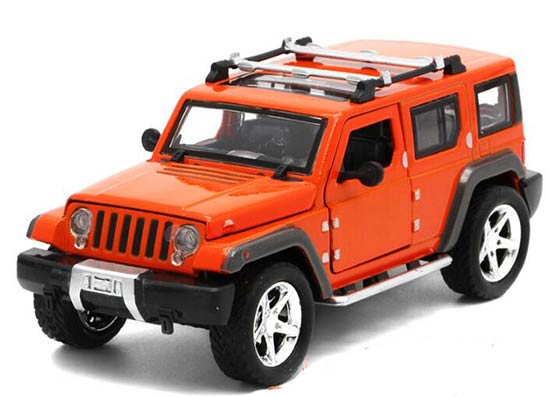 1:32 Green /Red / Orange / Black Kids Diecast Jeep Wrangler Toy