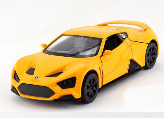 Kids 1:32 Scale Red / Blue / Yellow Die-Cast Zenvo ST1 Toy