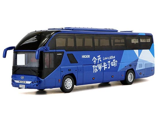 Blue 1:42 Scale Low Carbon Theme Die-cast Higer H92 Coach Model