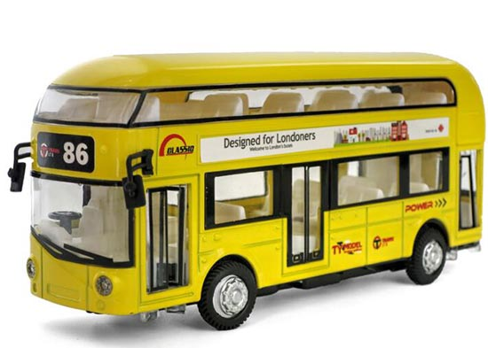 Red / Pink / Yellow /Blue Kids Die-Cast London Double Decker Bus