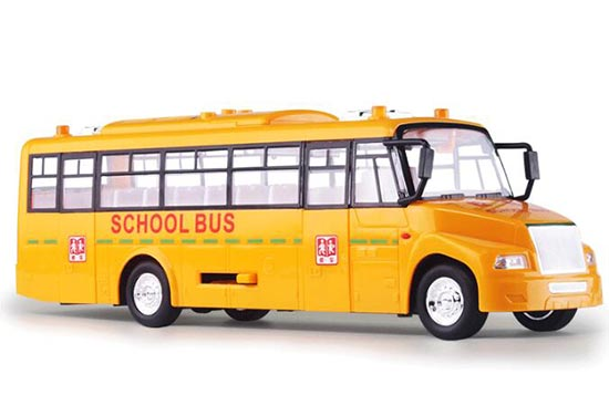 Yellow Kids Large Scale Plastics Light Sound School Bus Toy