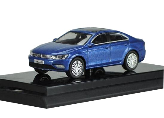 Blue 1:64 Scale Diecast VW Lamando Model