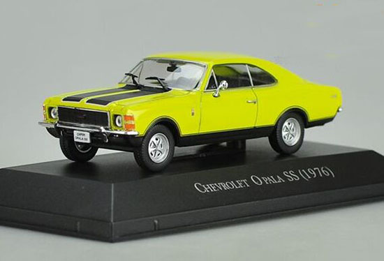Yellow 1:43 Scale IXO Die-Cast Chevrolet Opala SS 1976 Model