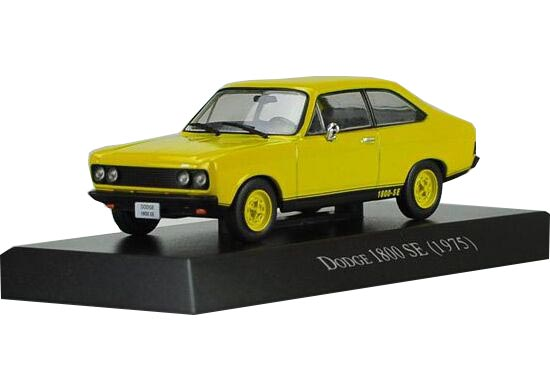 Yellow 1:43 Scale IXO Die-Cast Dodge 1800 SE 1975 Model
