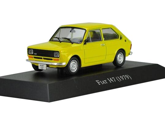 Yellow 1:43 Scale IXO Die-Cast Fiat 147 1979 Car Model