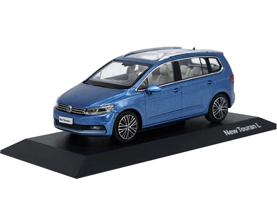 Blue / Brown 1:43 Scale Diecast VW New Touran L Model
