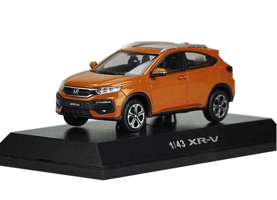 White / Orange / Blue 1:43 Scale Diecast Honda XR-V Model