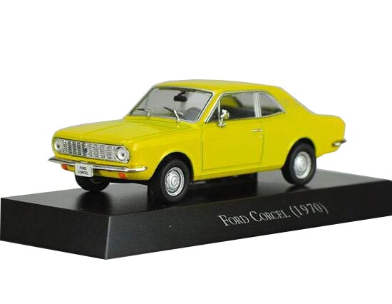 1:43 Scale Yellow IXO Diecast Ford Corcel 1970 Model