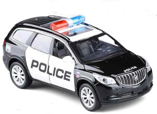 Kids Black 1:32 Scale Police Diecast Buick Enclave Toy