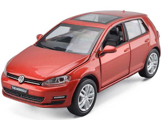 White / Red / Champagne 1:32 Scale Kids Diecast VW New Golf Toy
