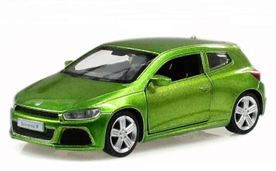 Blue / Green 1:38 Scale Kids Diecast VW Scirocco R Toy