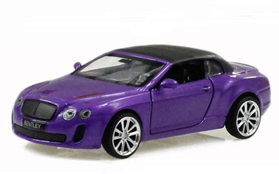 Pink / Blue 1:43 Scale Kids Diecast Bentley Continental ISR Toy