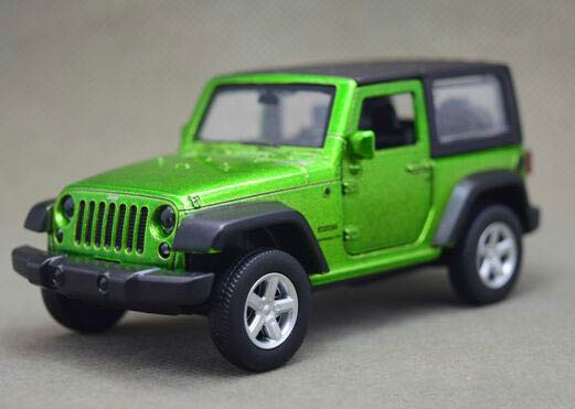 Red / Green 1:43 Scale Kids Diecast Jeep Wrangler Toy
