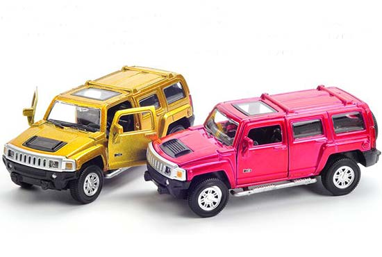 Red / Golden 1:43 Scale Kids Diecast Hummer H3 Toy