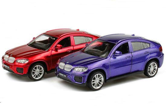 Red / Blue 1:43 Scale Kids Diecast BMW X6 Toy