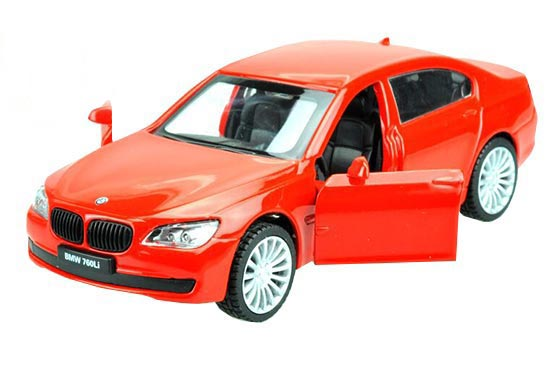 Red / Blue 1:43 Scale Kids Diecast BMW 760Li Toy