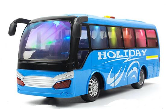 Kids Large Scale Green / Blue Plastic Holiday Coach Bus Toy