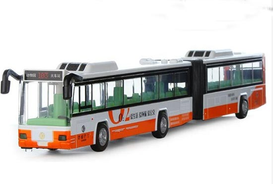 Large Scale Green /Orange /Blue Kid Die-Cast Articulated Bus Toy